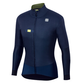 Sportful Bodyfit Pro Jacket Men, blue/yellow fluo